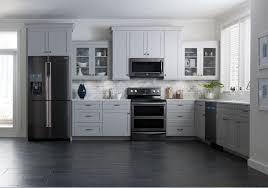 black stainless whole kitchen hero shot