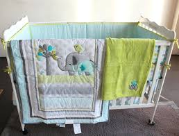 elephant infant bedding 8 crib infant room kids baby bedroom set nursery bedding blue elephant cot