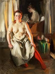 «<b>Красные чулки</b>» картина - Андерс Цорн