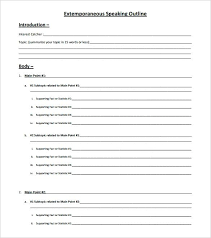 Speech Outline Format 1 Informative Speech Purpose To Inform My Audience Apa