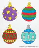 Printable Christmas Tree Ornaments Craft Kids Crafts