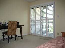 sliding door plantation shutters for glass doors how to install