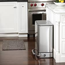 Black Kitchen Trash Cans Elegant Simplehuman 40l Slim Black Plastic Step Trash Can With