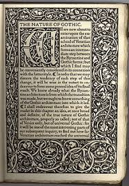 initial on the opening page of a book printed by the kelmscott press