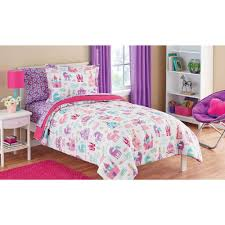 mainstays kids pretty princess bed in a bag bedding set