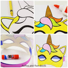 Free Printable Unicorn Mask Coloring Page And Template Ruffles