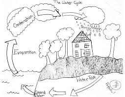 Simple Nature Coloring Pages Best Of Water Cycle At Page Bitsliceme