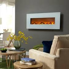 hanging electric fireplace ivory wall mounted touchstone home products tv above