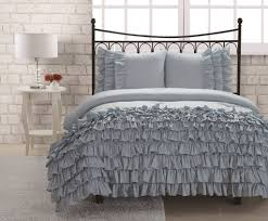 furniture captivating grey ruffle bedding 12 outstanding