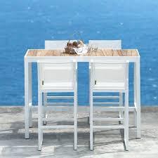 fantastic outdoor bistro table set bar height teak te