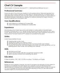 Writing A Cv Resume Chef Cv Sample Myperfectcv