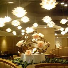 Excelvan DIY Lotus Chandelier&IQ PP Pendant Lamp, Suspension Ceiling  Pendant Lampshade For