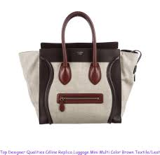 top designer qualities céline replica luggage mini multi color brown textile leather tote celine replica box