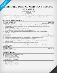 Certified Dental Assistant Resume Template All Best Cv Resume Ideas