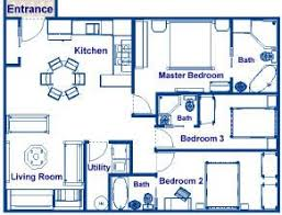 Square feet  Family vacations and House plans on Pinterest square foot house plans   sq ft three bedroom and bathroom family vacation home