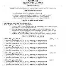 Cna Job Duties Resume Phenomenal Sample Resume Cna Template For Nursing Assistant Job 99