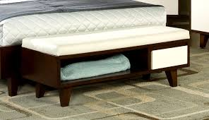 Image of: End of Bed Storage Bench White