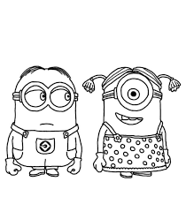 Small Picture Free Minion Coloring Pages Free Coloring Page Free Minion Coloring