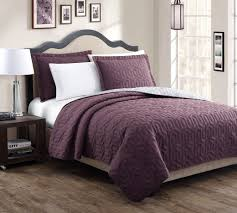 Stenson Red/Stone Reversible Bedspread/Quilt Set BUY FOR LESS THAN ... & New Stenson 3 Pc Reversible Bedspread Quilt Set Size Queen King Plum Gray Adamdwight.com