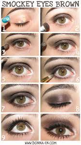 smokey eyes brown step by make up tutorial
