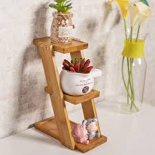 Small Table Display Stands 100 Tier Bamboo Flower Rack Flowerpot Rack Small Plants Table Stand 85