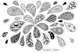 Water Drop Coloring Page Zentangle Drops Zentangle Adult Coloring Pages