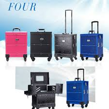 aluminum nail trolley luge cosmetic box professional makeup trolley case wheels for train 4 types