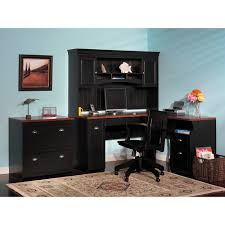 find the bush fairview l shaped computer deskhutch and lateral with regard to l shaped black black computer desks