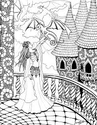 Drag queen coloring book volume 2: Dragon Queen Adult Coloring Page Auralynne