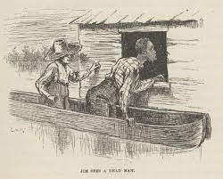 the adventures of huckleberry finn racism slavery intelectual  huck and jim come upon a storm and they see a house floating so they go inside the house to get necessities they come across a dead body come to out