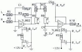subwoofer pre amp filter circuit diagram audio schematic circuit diagram