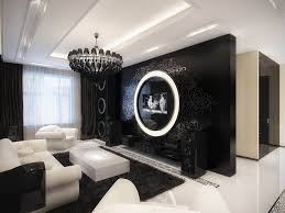 high contrast high style decorating in black white