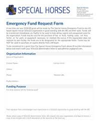 Emergency Fund | Special Horses Inc