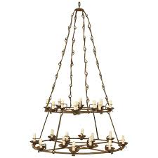 antique french wrought iron chandelier removed from a cau for