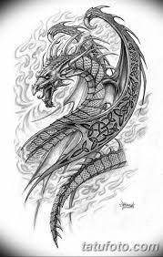 тату дракон эскизы для девушек 08032019 008 Tattoo Sketches