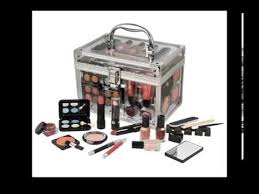 60 piece urban beauty travel cosmetic vanity case make up gift set train box nails eyes lips plus