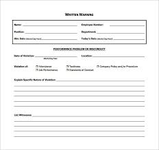 Employee Written Warning Template Templates Writing
