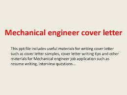 Sample Cover Letter For Mechanical Engineer Fresher