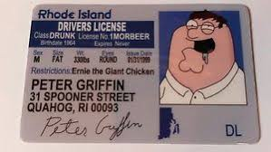 Family Griffin Novelty Ebay Id - Guy License Card Peter Drivers
