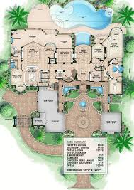 fabulous mediterranean home plans with pool coastal florida house plan 71542