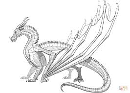 bargain wings of fire coloring page skywing dragon from free printable rainwing pages