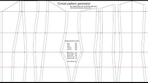 Corset Pattern Awesome The Corset Pattern Generator 48 Steps