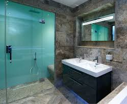 cool luxury diy shower wall panel kits can even look like back painted glass these