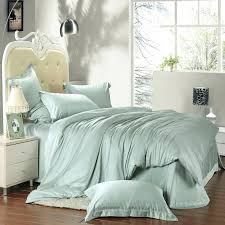 beans green solid color duvet cover set super soft tencel silk fabric bedding sets king queen