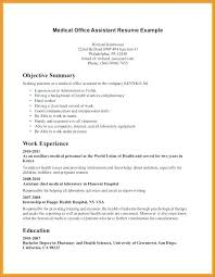 Sample Resume For Medical Office Assistant Classy Medical Records Technician Job Description For Resume Clerk Record