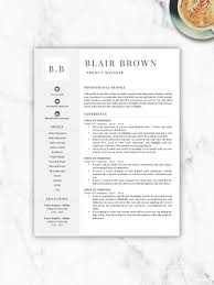 Professional Resume Template Free Resume Template Resume Template Instant Download Resumes Cover Letter References Included Mac Pc
