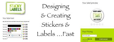 Label Design Free Using The Sticky Labels Label Designer Real Label Design Example