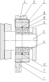 Курсовая работа Технологический процесс изготовления  Внутренние кольца подшипников фиксированы на оси 3 распорной втулкой 4 Ось плотно входит в отверстия стенки и ушка картера коробки передач