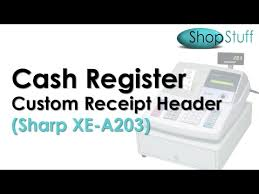sharp xe a206. how to put your shop name on till receipt sharp xe-a203 or xe-a303 cash register xe a206
