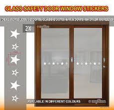 glass safety 017 stars window door